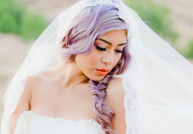 Image result for purple hair bride