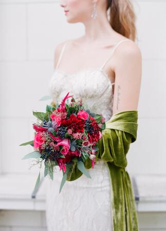 Fall bridal bouquet by Bridget Reale for Violet and Verde| Corbin Gurkin | blog.theknot.com