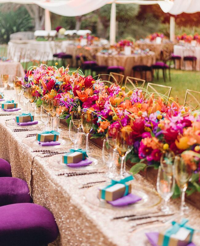 Indian Wedding Themes Ideas: Couple's Bright Colorful Indian Wedding Is Jaw-Dropping