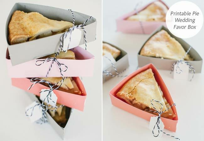 DIY printable pie favor box: Project Wedding / TheKnot.com