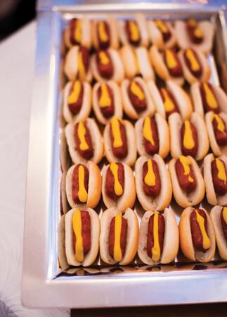 Hot Dog Appetizers | k. thompson photography | theknot.com