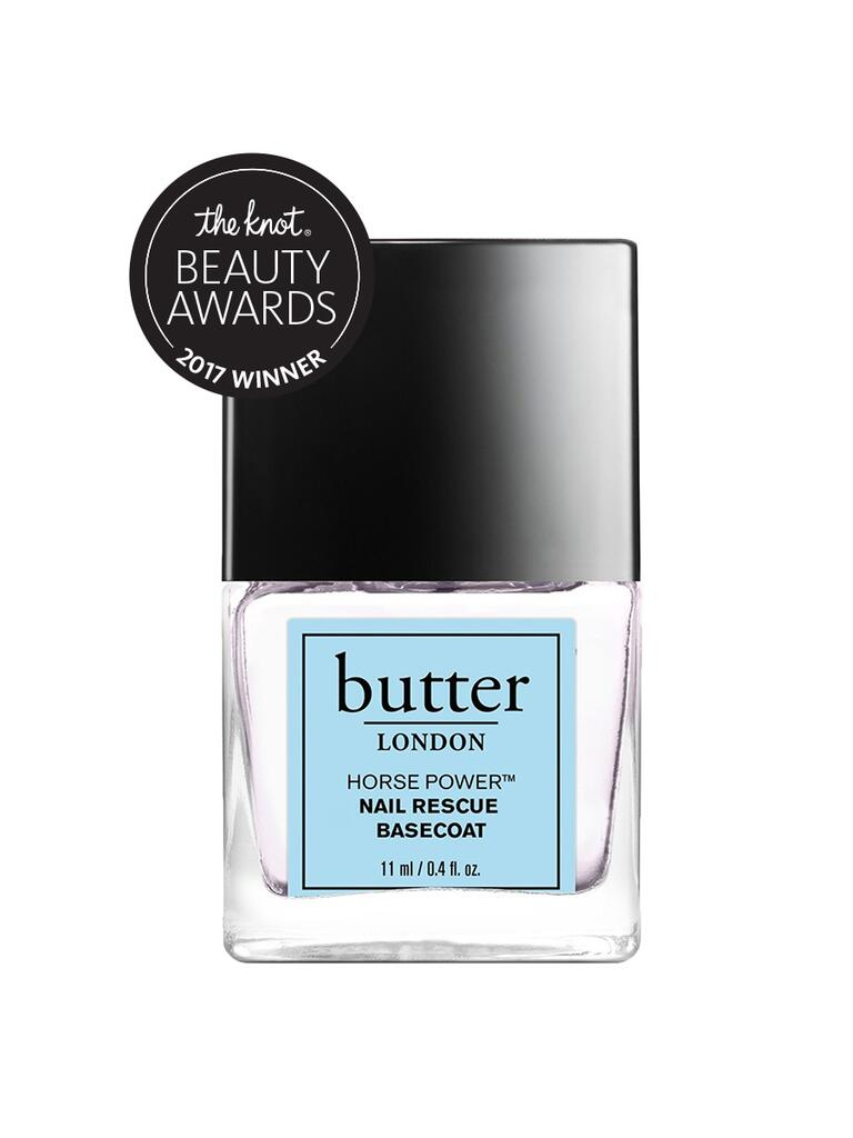 The Knot pick for best base coat is the Butter London Horse Power nail rescue base coat
