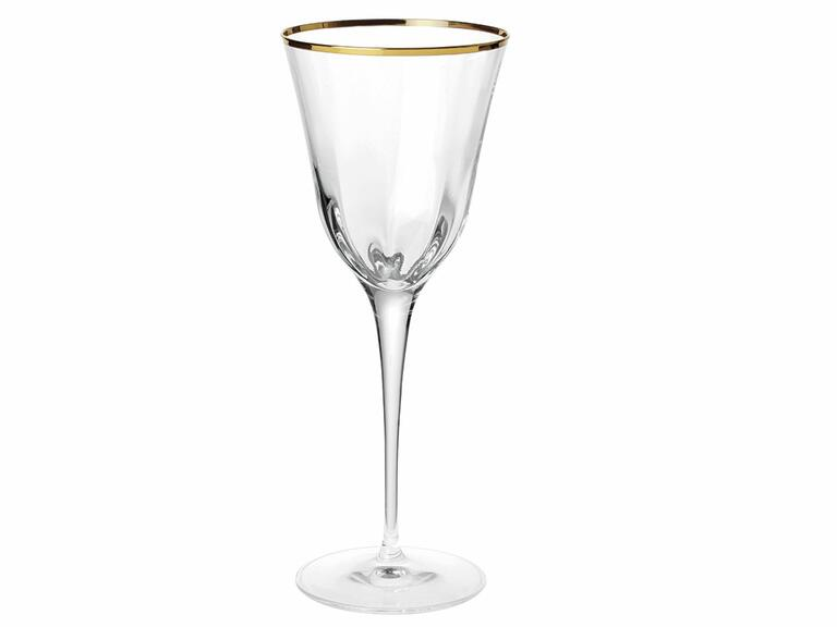 Vietri Optical gold champagne glass