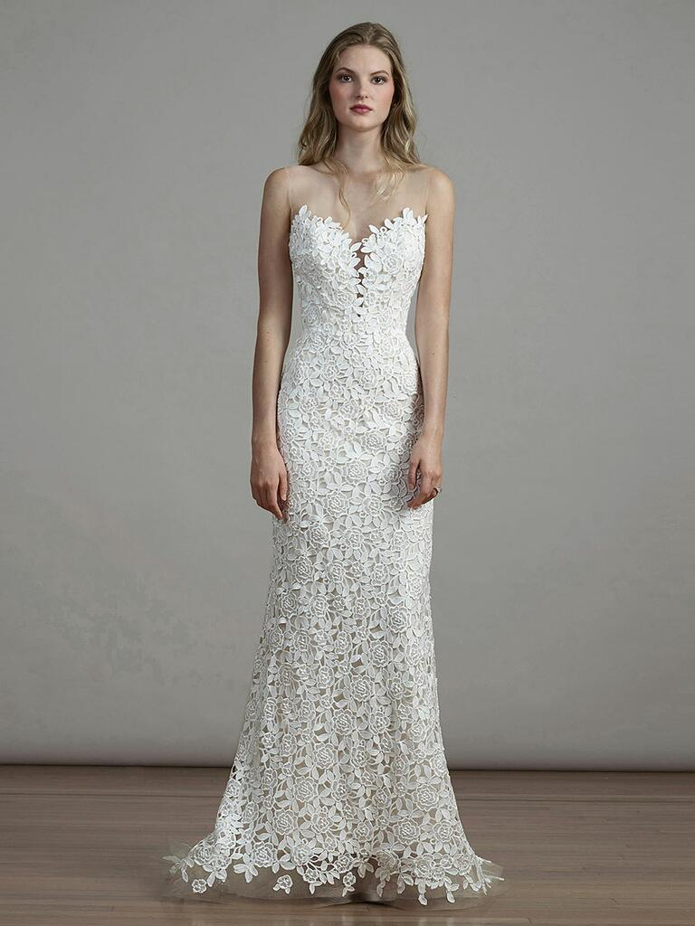 Liancarlo Spring 2018 floral applique trumpet wedding dress