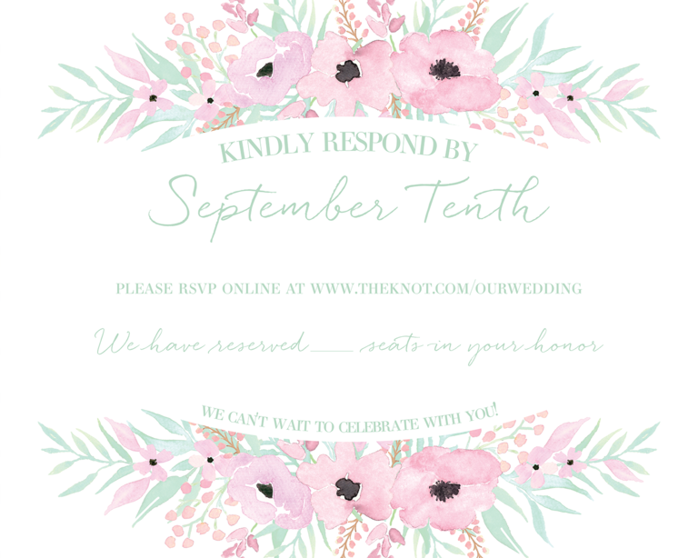 Wedding RSVP Wording Ideas – Wording for Wedding Rsvp Cards