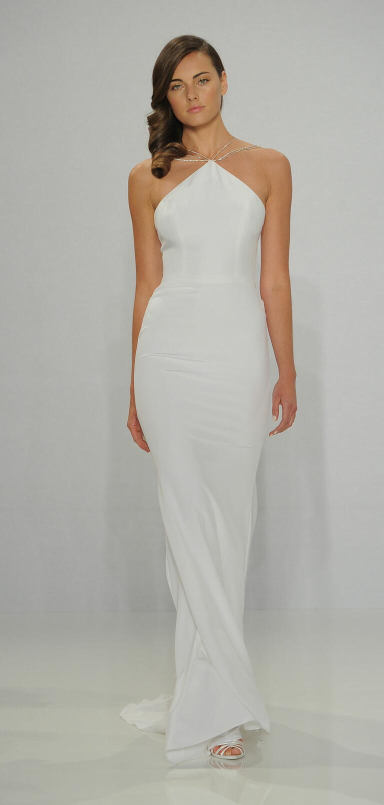 Christian Siriano Spring 2017 multi-strap halter wedding dress