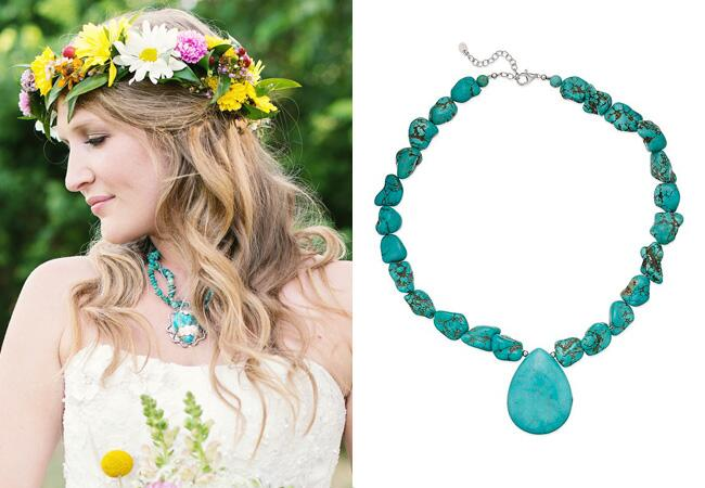 Turquoise Statement Necklace |<img class=