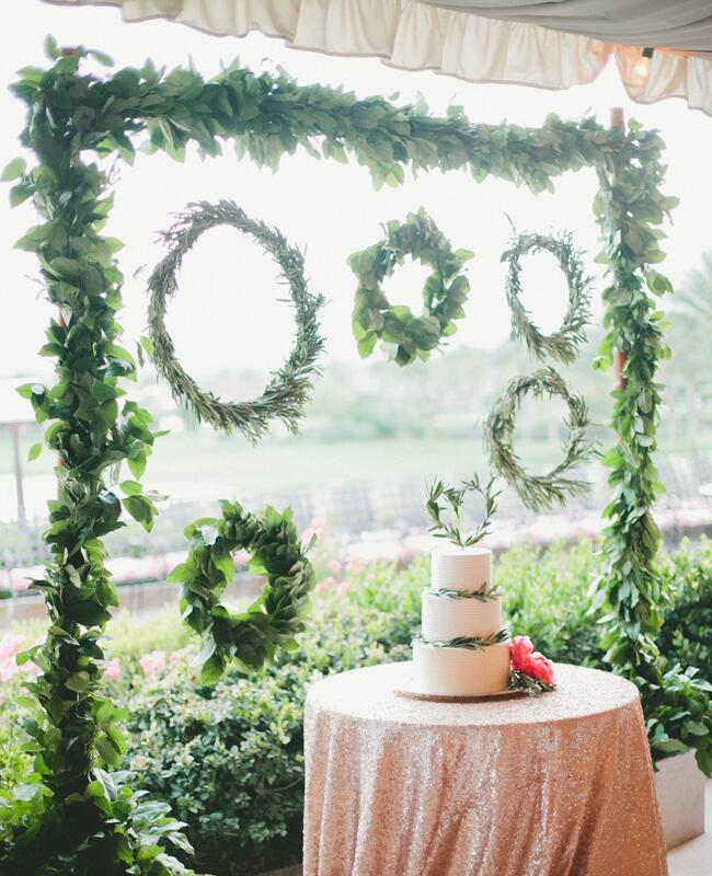 Garland wedding decor: One Love Photography / TheKnot.com