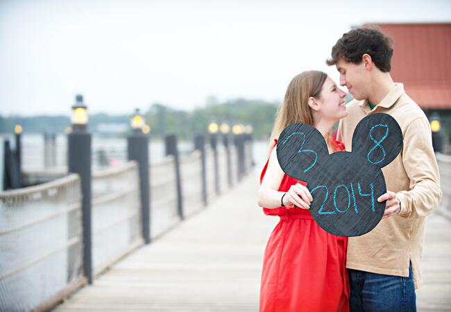 Disney save-the-date idea | Portrayable Photography | From: Blog.theknot.com