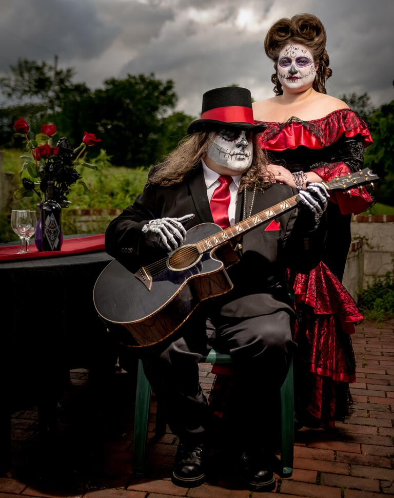 Day of the Dead Engagement Photo Session