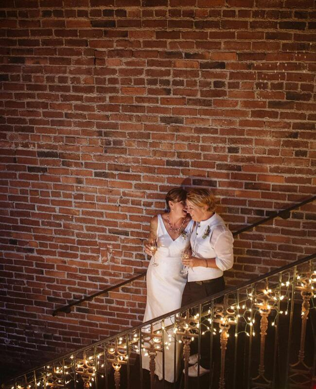 Alissa Haslam and Jeanne Sickel Wedding Photo   Acken Studios   Blog.TheKnot.com