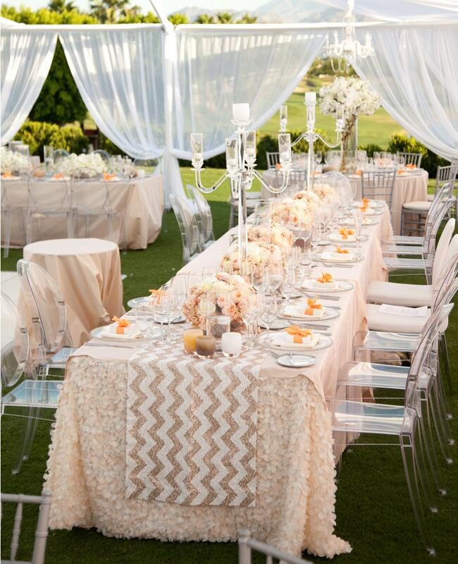6 rose gold metallic wedding ideas for Decoration rose gold