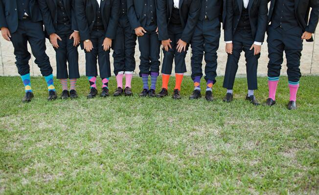 Grooms & Their Socks