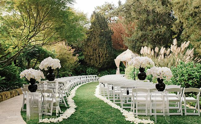 Black And White Formal Outdoor Wedding Blog Theknot