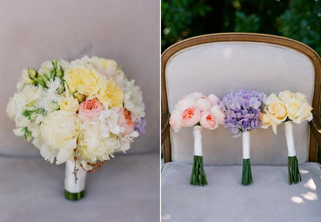 Monochromatic Bridesmaid Bouquets