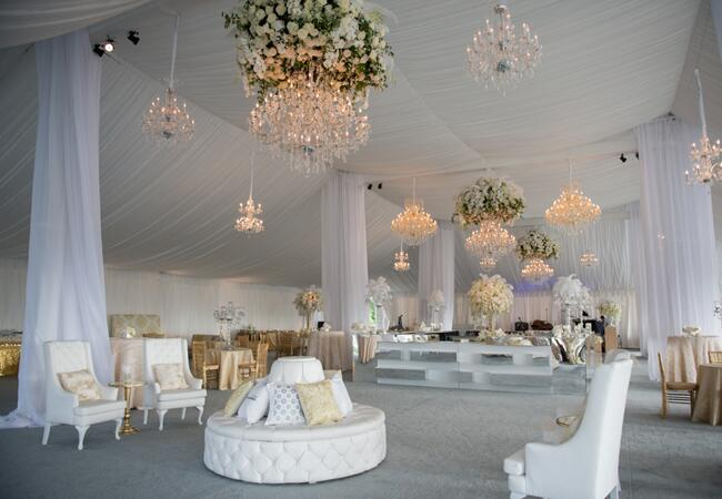 Reception Tent // Photo: Carla Ten Eyck