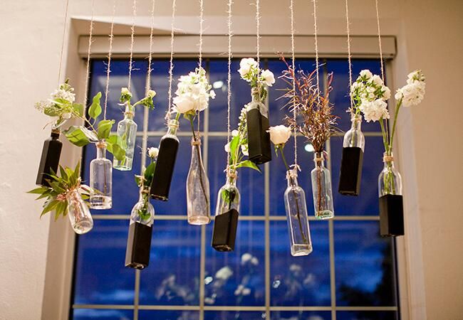 hanging reception flowers |<img class=