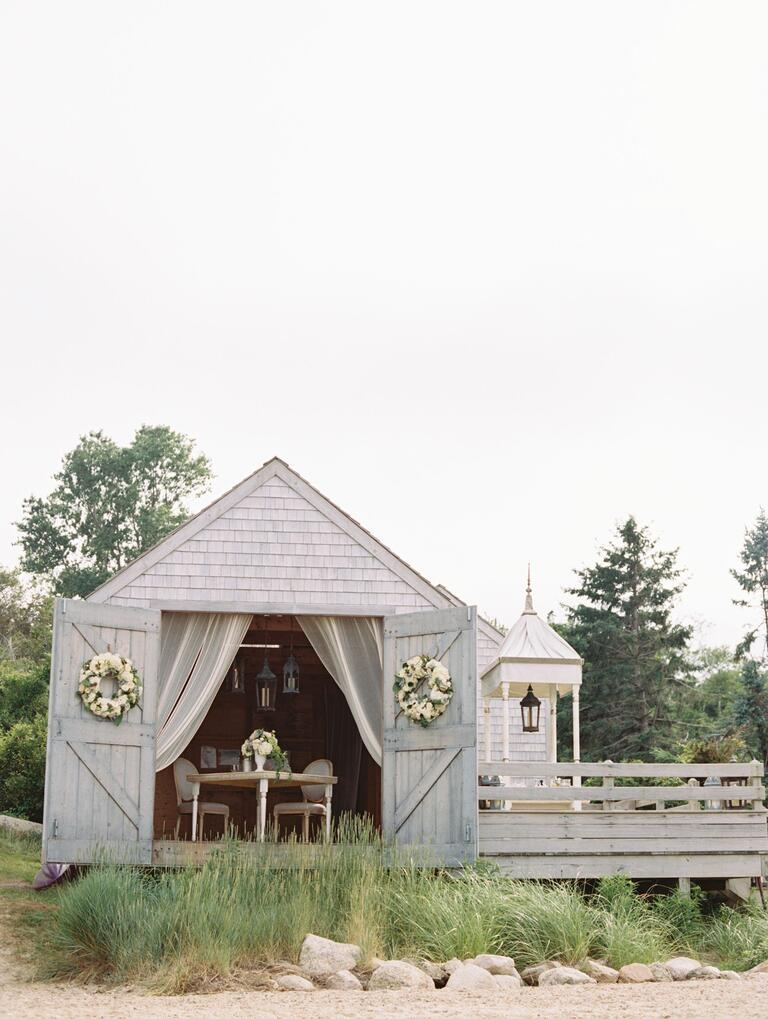 Decorated beach cottage for a Cape Cod proposal