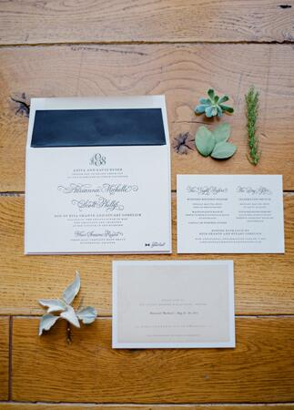 Classic Navy & White Invitations // Mi Belle Photographers