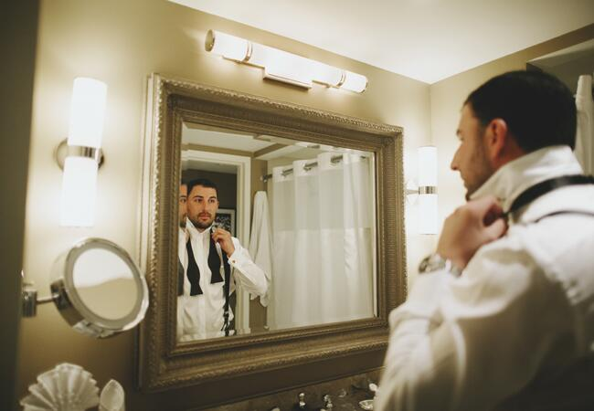 groom getting ready | Lime Green Photography | blog.theknot.com