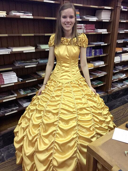 Belle's gown recreated from Beauty and the Beast