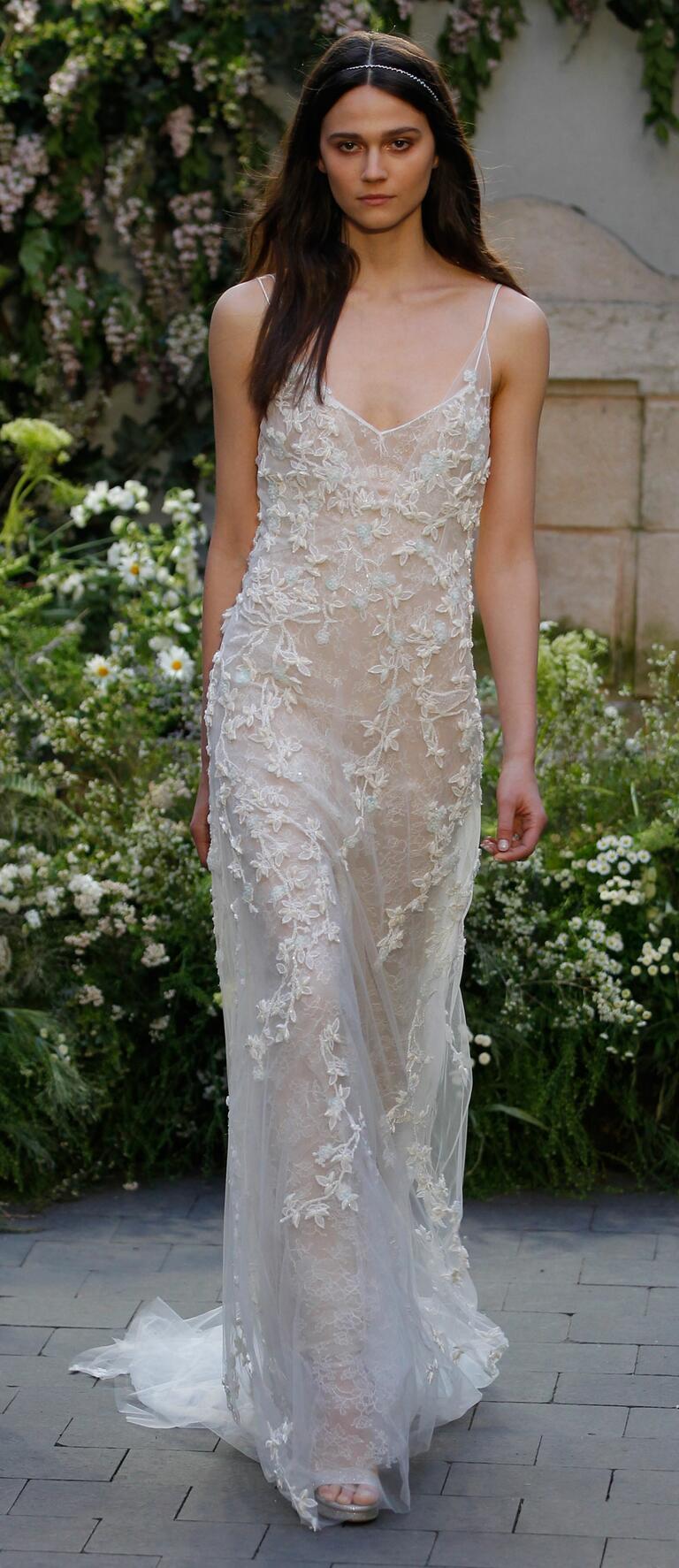 Monique lhuillier spring 2017 collection bridal fashion for White silk slip wedding dress