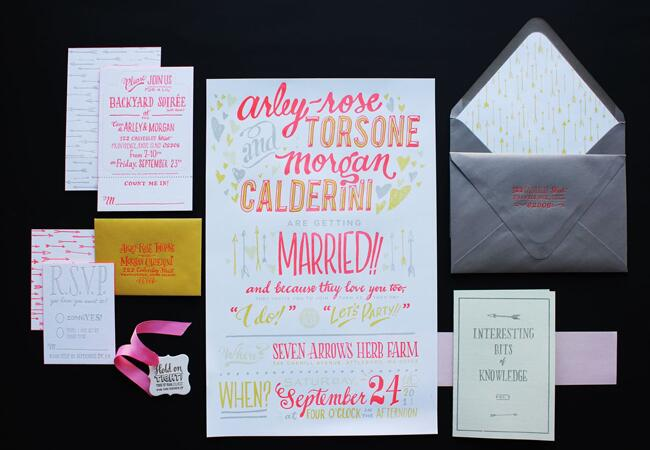 Stationery: Ladyfingers Letterpress// The Knot Blog