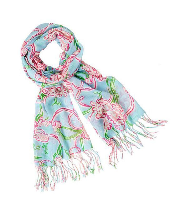 Lilly Pulitzer Breast Cancer Awareness Month Scarf