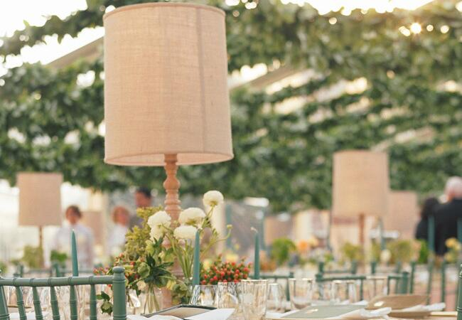 Lamp Centerpieces