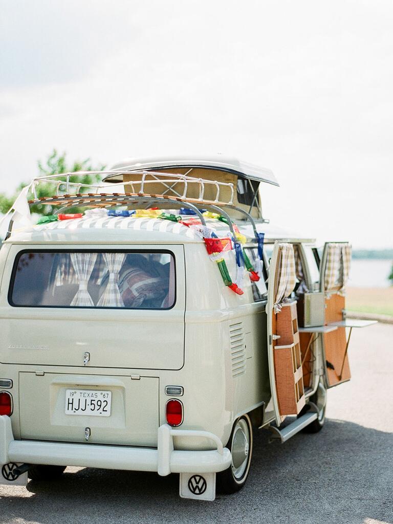 cream, vintage Volkswagen bus