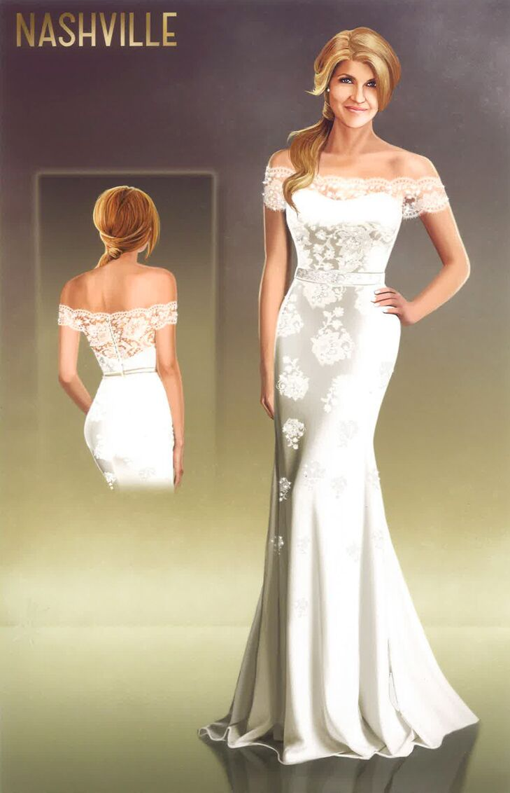 Rayna jaymes 39 wedding dress on 39 nashville 39 a behind the for Wedding dresses in nashville