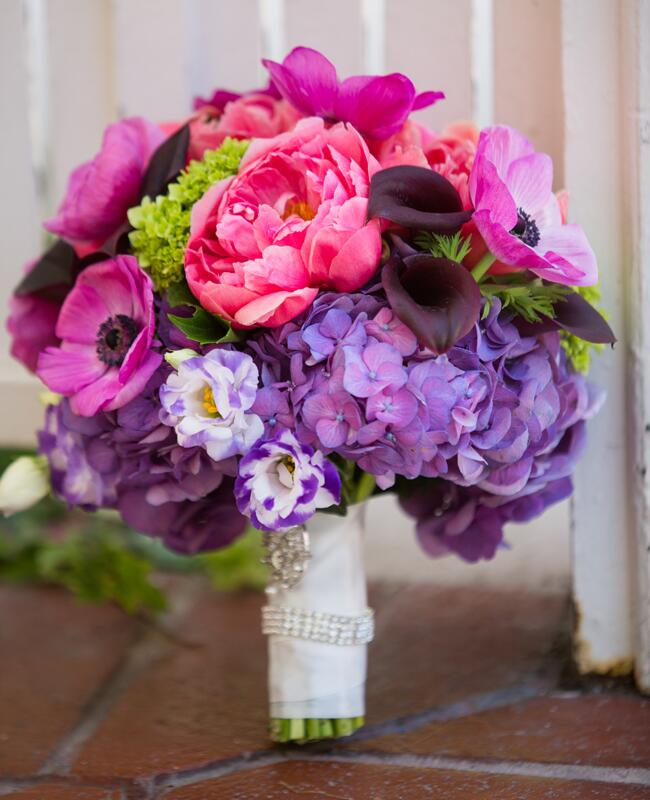 Vibrant Bridal Bouquet | Vallentyne Photography | blog.TheKnot.com