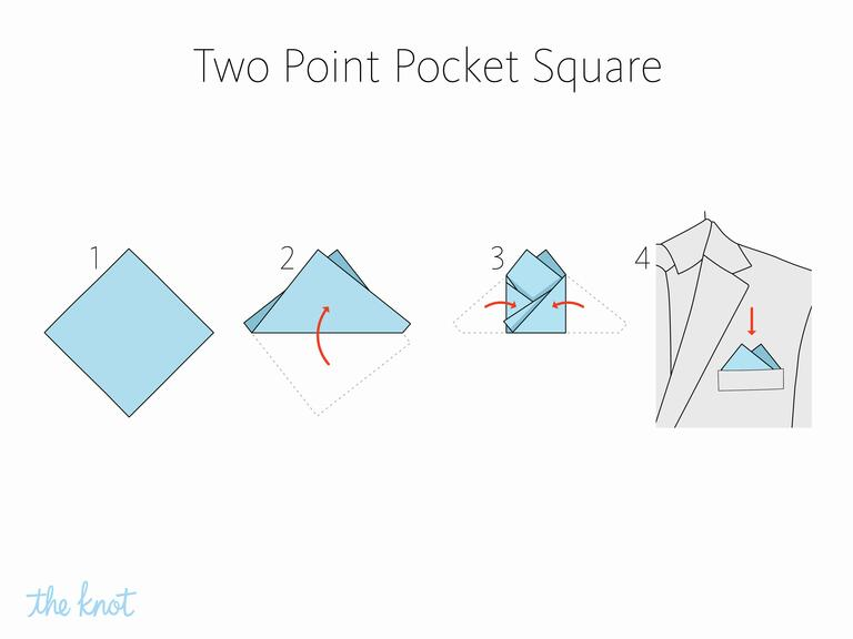 MIKOLO - How to fold a two point pocket square