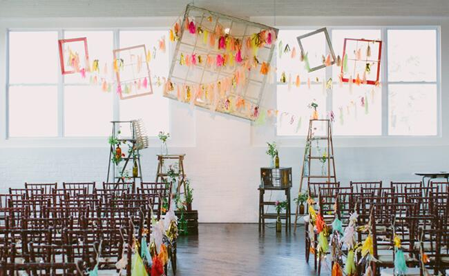DIY tassel wedding ideas | Lauren Fair Photography | blog.theknot.com