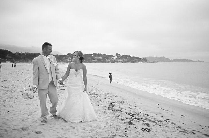 A beach wedding at carmel beach in carmel by the sea for Carmel by the sea wedding