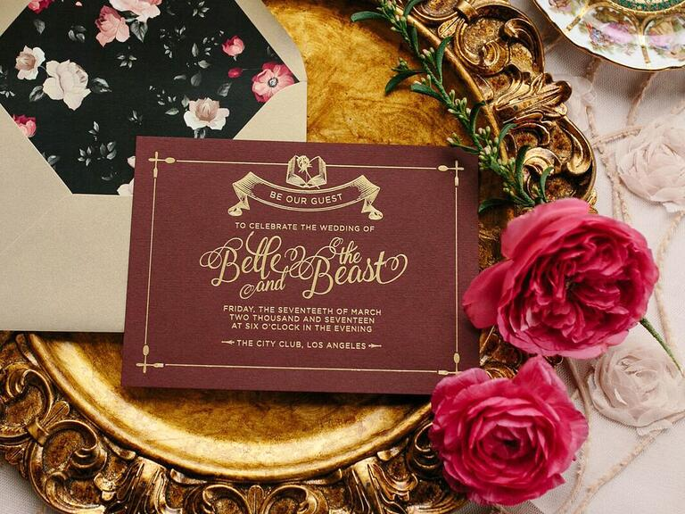 Beauty and the Beast invitation