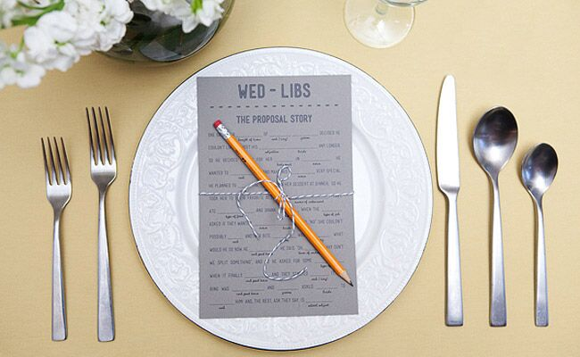 give your guests mad libs and hilarity most definitely ensues youve got choices when it comes to the presentation hit them before the wedding