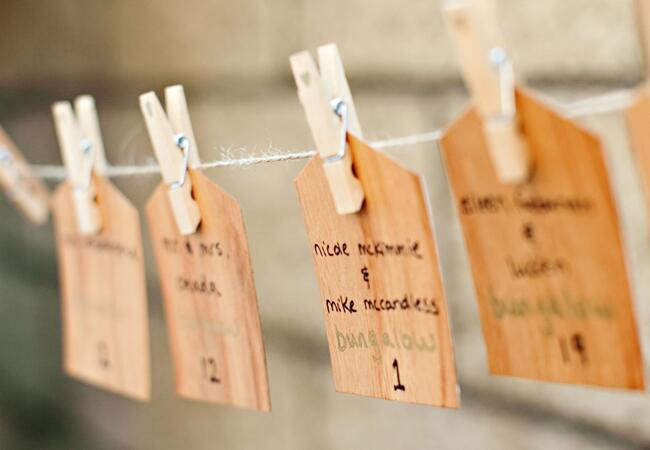DIY Woodgrain Escort Cards |<img class=