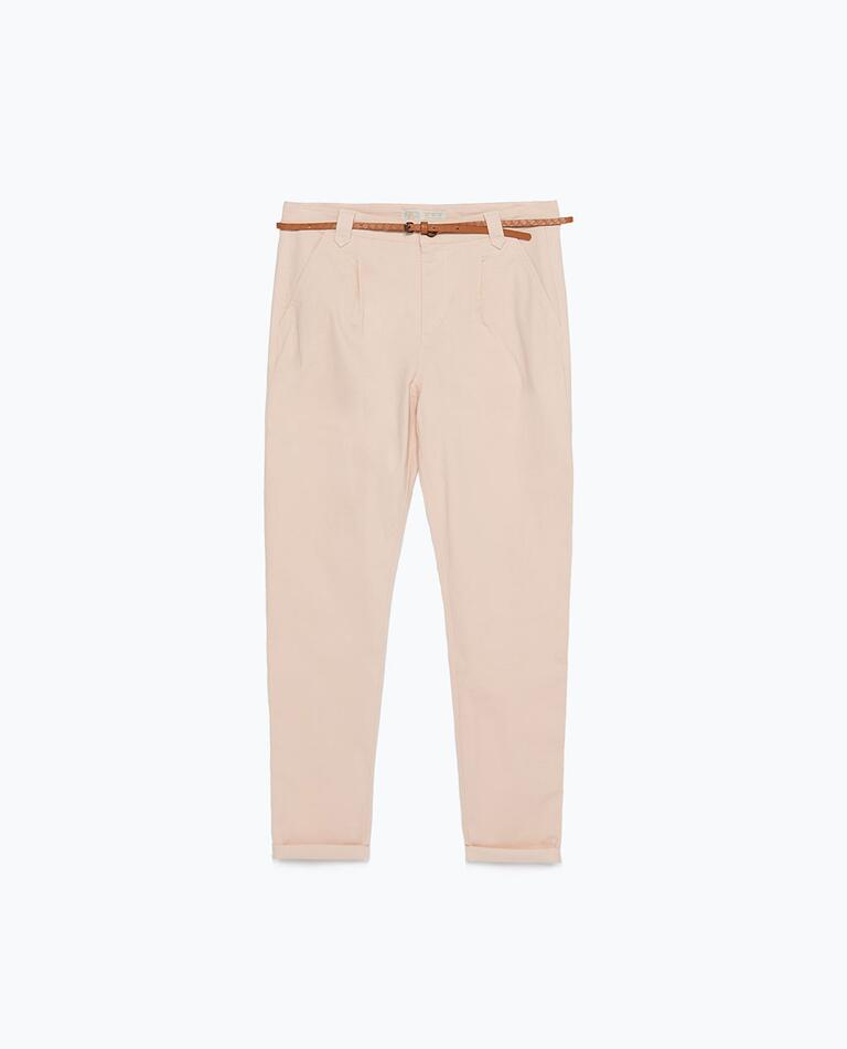 zara light trousers