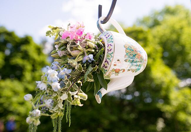 teacup flower vase |<img class=