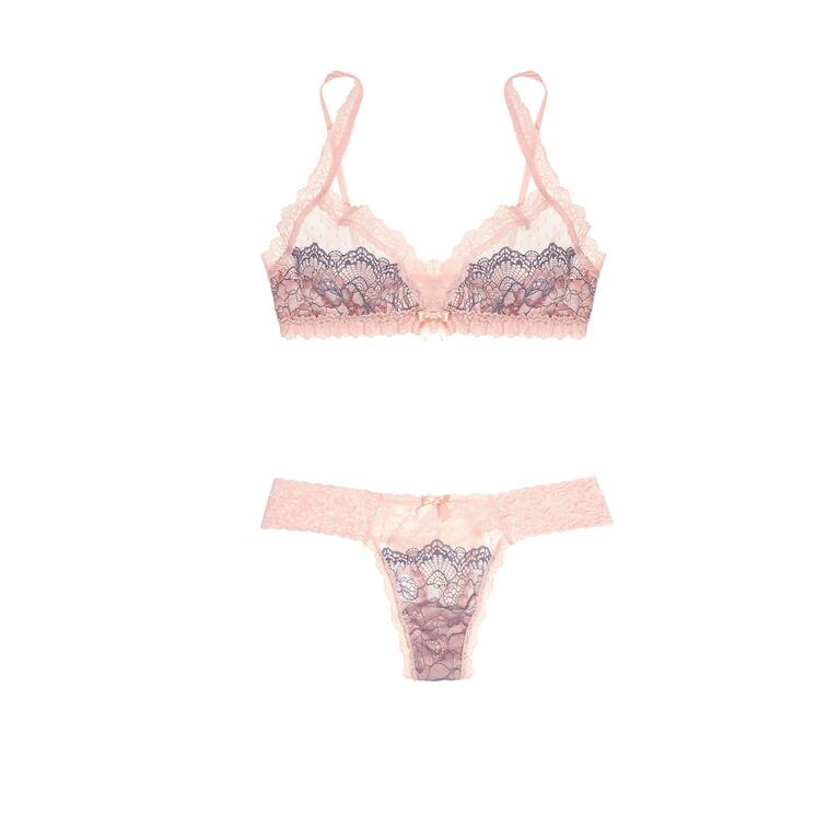 hanky panky pink lace lingerie