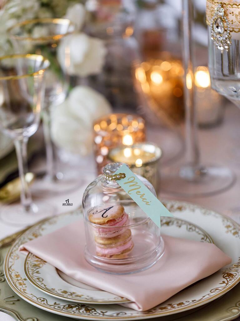 Macaron wedding favor