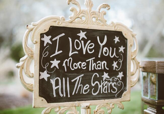 Starry Vintage Wedding Sign | Al Gawlik Photography | blog.TheKnot.com