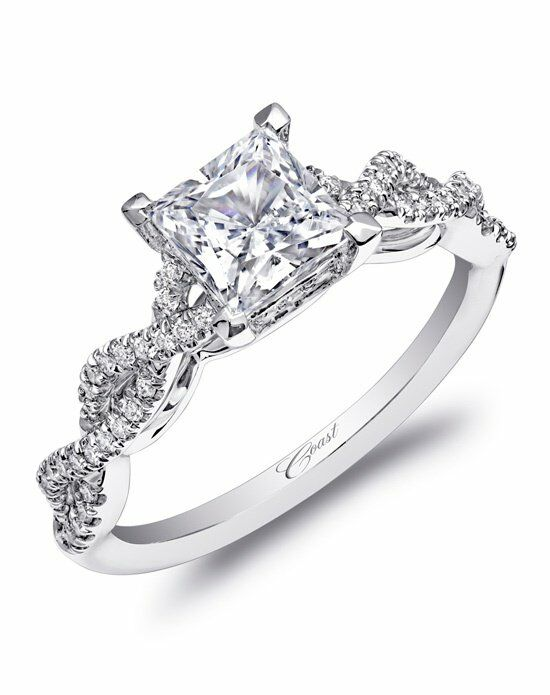 Coast diamond woven shank engagement ring lc10002 wedding for Woven wedding ring
