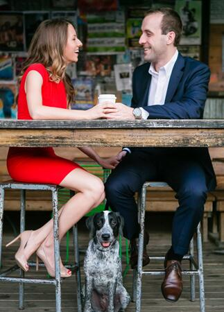 Engagement Photos with Dogs: George Street Photo & Video / TheKnot.com