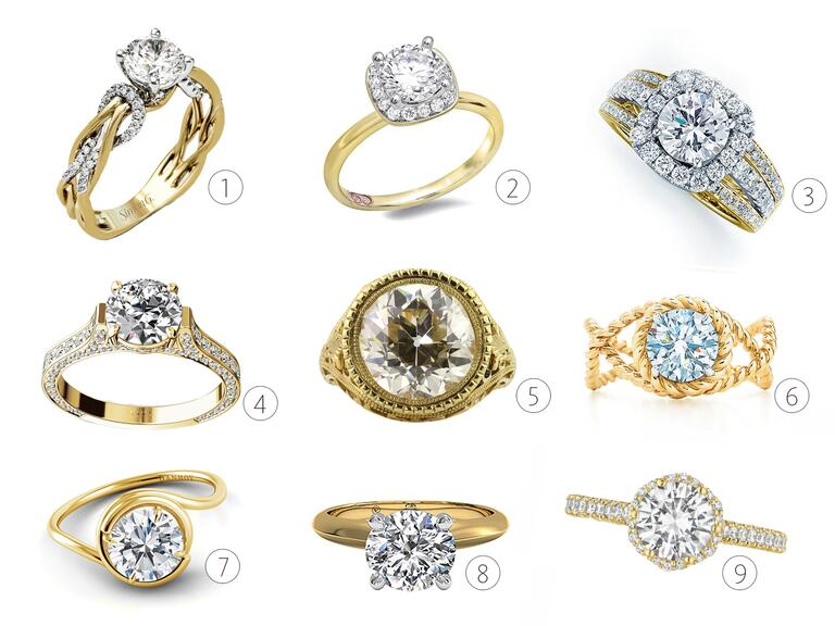 yellow gold engagement rings - Wedding Rings Yellow Gold