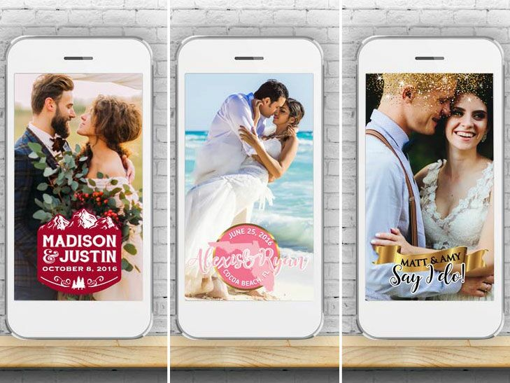 A Company That Will Design A Snapchat Geofilter For Your Wedding