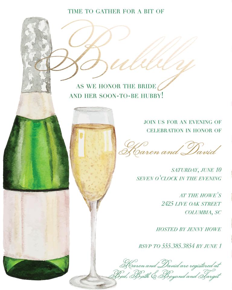 Wedding Gift Etiquette And Shower : Wedding Shower Invitation Wording