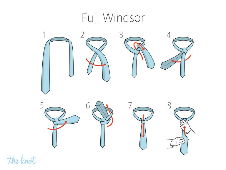how to tie a half windsor knot pdf