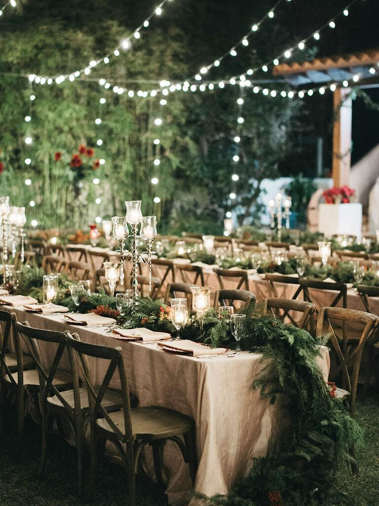 Italian bistro cafe string light rental for wedding reception in - Creative String Light Ideas For A Romantic Wedding Reception